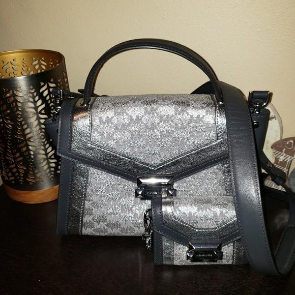 c560628a9090 Michael Kors Whitney medium metallic bag & wallet NWT